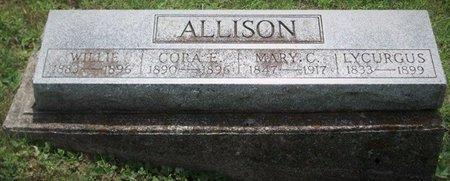 ALLISON, WILLIE - Champaign County, Ohio | WILLIE ALLISON - Ohio Gravestone Photos