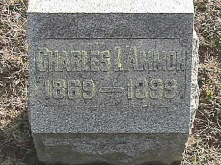 AMMON, CHARLES ISAAC - Champaign County, Ohio   CHARLES ISAAC AMMON - Ohio Gravestone Photos