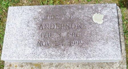ANDERSON, DORIS K - Champaign County, Ohio | DORIS K ANDERSON - Ohio Gravestone Photos
