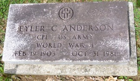 ANDERSON, EYLER COLUMBUS - Champaign County, Ohio   EYLER COLUMBUS ANDERSON - Ohio Gravestone Photos