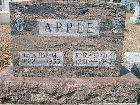 BAKER APPLE, ELIZABETH S. - Champaign County, Ohio | ELIZABETH S. BAKER APPLE - Ohio Gravestone Photos