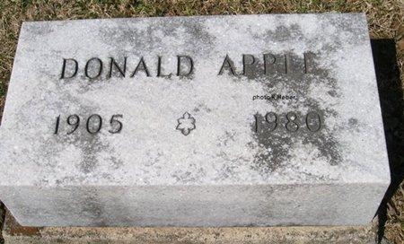 APPLE, DONALD S - Champaign County, Ohio | DONALD S APPLE - Ohio Gravestone Photos