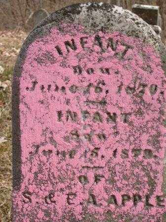 APPLE, INFANT DAUGHTER - Champaign County, Ohio | INFANT DAUGHTER APPLE - Ohio Gravestone Photos