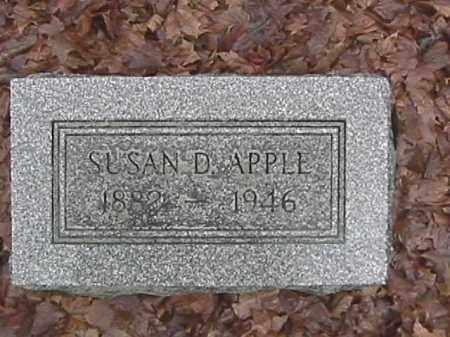APPLE, SUSAN DORINDA - Champaign County, Ohio | SUSAN DORINDA APPLE - Ohio Gravestone Photos