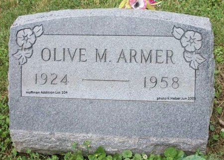 ARMER, OLIVE MAY - Champaign County, Ohio | OLIVE MAY ARMER - Ohio Gravestone Photos