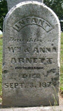 ARNETT, INFANT DAUGHTER - Champaign County, Ohio   INFANT DAUGHTER ARNETT - Ohio Gravestone Photos