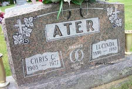 ATER, LUCINDA - Champaign County, Ohio | LUCINDA ATER - Ohio Gravestone Photos