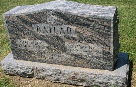 BAILAR, SUSANNA - Champaign County, Ohio | SUSANNA BAILAR - Ohio Gravestone Photos