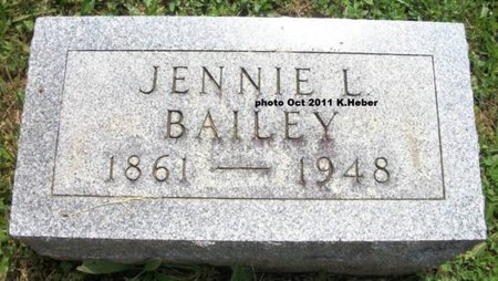 BAILEY, JENNIE L - Champaign County, Ohio | JENNIE L BAILEY - Ohio Gravestone Photos