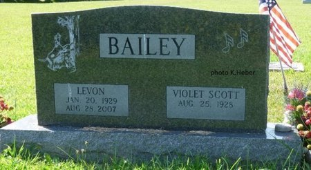BAILEY, VIOLET E - Champaign County, Ohio | VIOLET E BAILEY - Ohio Gravestone Photos