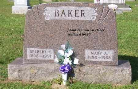 COLBERT BAKER, MARY ANGELINE - Champaign County, Ohio | MARY ANGELINE COLBERT BAKER - Ohio Gravestone Photos