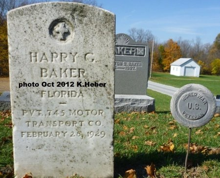 BAKER, HARRY GEORGE - Champaign County, Ohio | HARRY GEORGE BAKER - Ohio Gravestone Photos