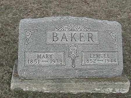 PENCE BAKER, MARY GENTIS - Champaign County, Ohio | MARY GENTIS PENCE BAKER - Ohio Gravestone Photos