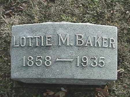 BAKER, LOTTIE M. - Champaign County, Ohio | LOTTIE M. BAKER - Ohio Gravestone Photos