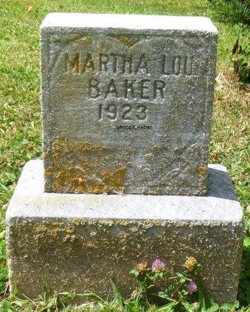 BAKER, MARTHA LOU - Champaign County, Ohio | MARTHA LOU BAKER - Ohio Gravestone Photos