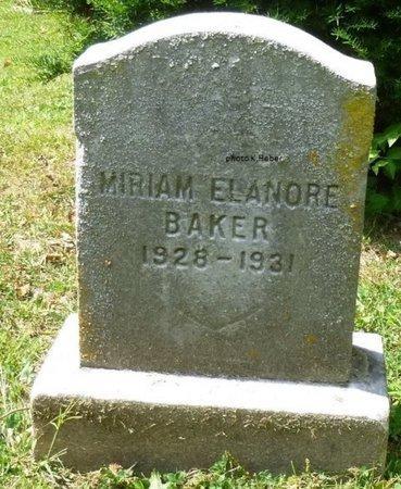 BAKER, MIRIAM ELANORE - Champaign County, Ohio   MIRIAM ELANORE BAKER - Ohio Gravestone Photos