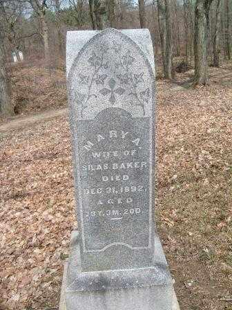 BAKER, MARY A. - Champaign County, Ohio | MARY A. BAKER - Ohio Gravestone Photos