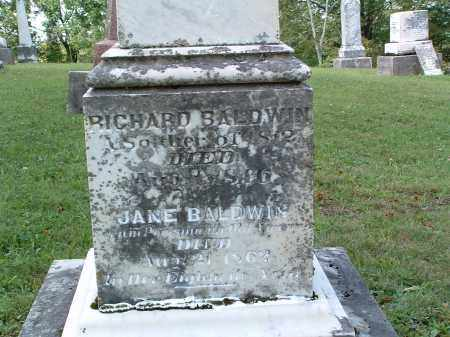 BALDWIN, RICHARD - Champaign County, Ohio | RICHARD BALDWIN - Ohio Gravestone Photos