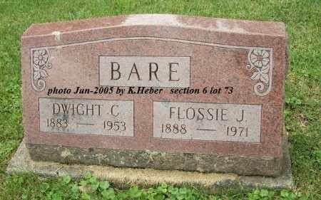 BARE, DWIGHT CLINTON - Champaign County, Ohio | DWIGHT CLINTON BARE - Ohio Gravestone Photos
