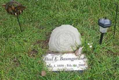 BAUMGARDNER, PAUL E. - Champaign County, Ohio | PAUL E. BAUMGARDNER - Ohio Gravestone Photos