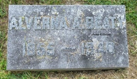 BEATY, ALVERNA A - Champaign County, Ohio | ALVERNA A BEATY - Ohio Gravestone Photos