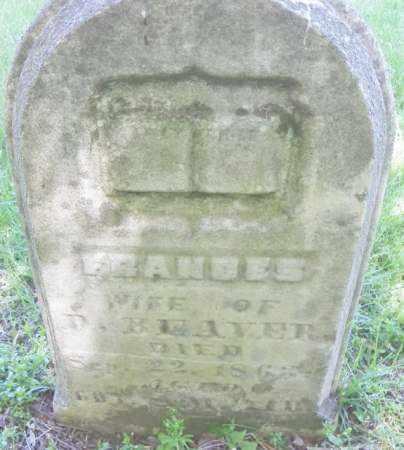 BEAVER, FRANCES - Champaign County, Ohio   FRANCES BEAVER - Ohio Gravestone Photos