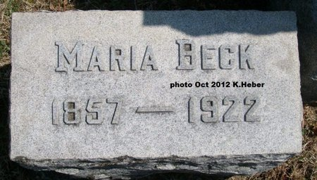 BECK, MARIA - Champaign County, Ohio | MARIA BECK - Ohio Gravestone Photos