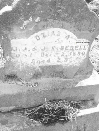 BEDELL, OZIAS A - Champaign County, Ohio | OZIAS A BEDELL - Ohio Gravestone Photos