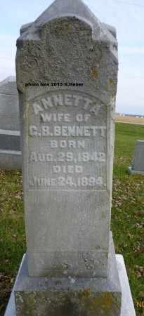 BENNETT, ANNETTA - Champaign County, Ohio | ANNETTA BENNETT - Ohio Gravestone Photos