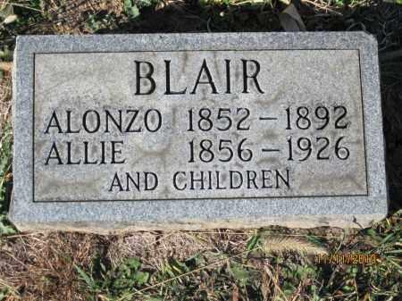 BLAIR, SARAH ALICE CLARK - Champaign County, Ohio | SARAH ALICE CLARK BLAIR - Ohio Gravestone Photos