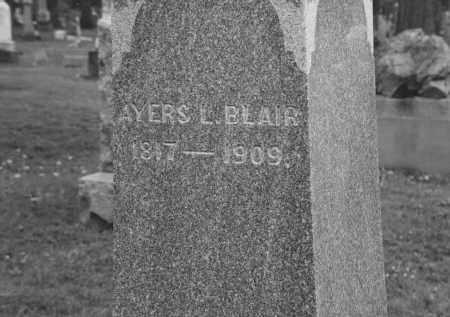 BLAIR, AYERS LAFORGE - Champaign County, Ohio   AYERS LAFORGE BLAIR - Ohio Gravestone Photos
