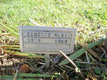 BLAIR, JEANETTE - Champaign County, Ohio | JEANETTE BLAIR - Ohio Gravestone Photos