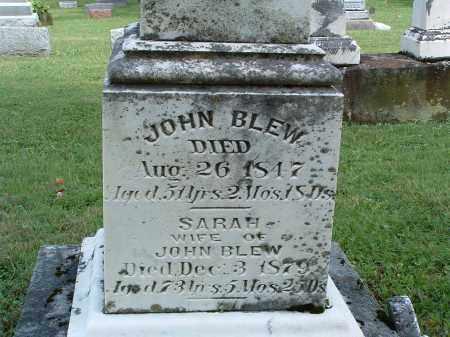 BALDWIN BLEW, SARAH - Champaign County, Ohio | SARAH BALDWIN BLEW - Ohio Gravestone Photos