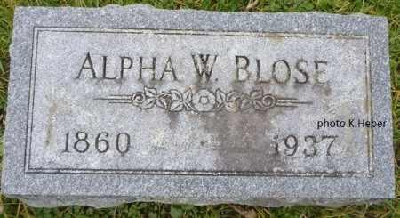BLOSE, ALPHA WILLIAM - Champaign County, Ohio | ALPHA WILLIAM BLOSE - Ohio Gravestone Photos
