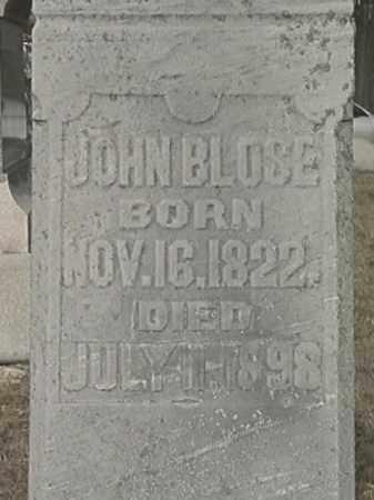 BLOSE, JOHN - Champaign County, Ohio | JOHN BLOSE - Ohio Gravestone Photos