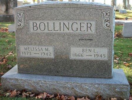 BOLLINGER, BENJAMIN LOUIS - Champaign County, Ohio | BENJAMIN LOUIS BOLLINGER - Ohio Gravestone Photos
