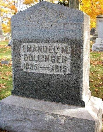 BOLLINGER, EMANUEL M - Champaign County, Ohio | EMANUEL M BOLLINGER - Ohio Gravestone Photos