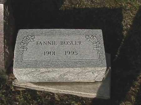 BOSLER, FANNIE M. - Champaign County, Ohio | FANNIE M. BOSLER - Ohio Gravestone Photos