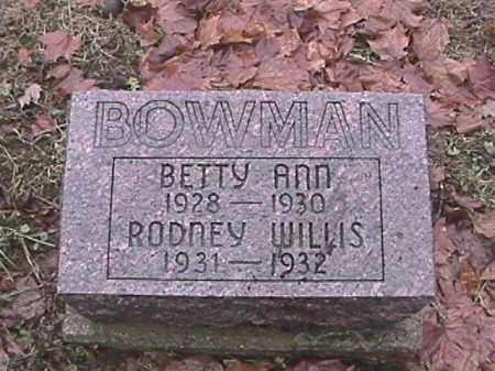 BOWMAN, RODNEY WILLIS - Champaign County, Ohio | RODNEY WILLIS BOWMAN - Ohio Gravestone Photos