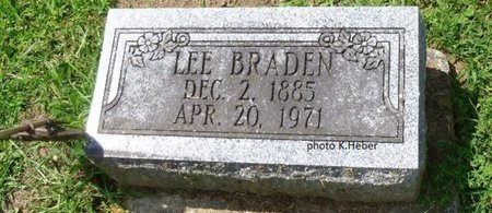BRADEN, LEE - Champaign County, Ohio | LEE BRADEN - Ohio Gravestone Photos