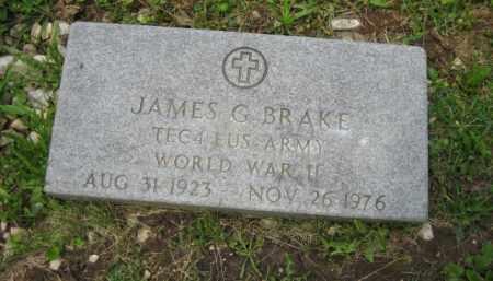 BRAKE, JAMES G. - Champaign County, Ohio   JAMES G. BRAKE - Ohio Gravestone Photos