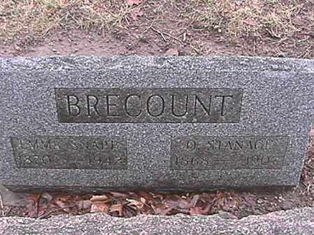 BRECOUNT, O. STANAGE - Champaign County, Ohio | O. STANAGE BRECOUNT - Ohio Gravestone Photos