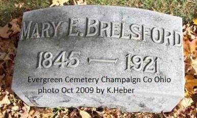 BRELSFORD, MARY ELLEN - Champaign County, Ohio | MARY ELLEN BRELSFORD - Ohio Gravestone Photos