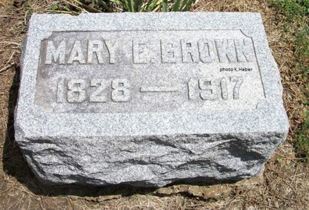 BROWN, MARY ELIZABETH - Champaign County, Ohio   MARY ELIZABETH BROWN - Ohio Gravestone Photos