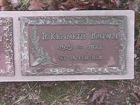 BROWN, R. KENNETH - Champaign County, Ohio   R. KENNETH BROWN - Ohio Gravestone Photos