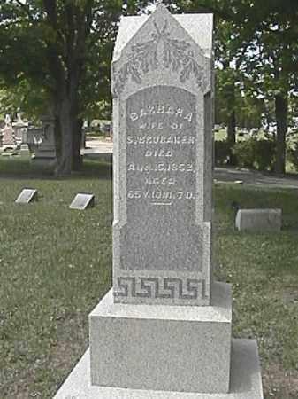 BRUBAKER, BARBARA - Champaign County, Ohio | BARBARA BRUBAKER - Ohio Gravestone Photos