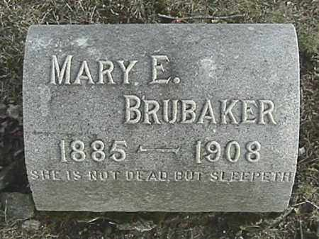 BRUBAKER, MARY EMMA - Champaign County, Ohio | MARY EMMA BRUBAKER - Ohio Gravestone Photos