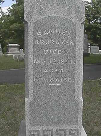 BRUBAKER, SAMUEL - Champaign County, Ohio | SAMUEL BRUBAKER - Ohio Gravestone Photos