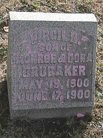 BRUBAKER, VIRGIL H. - Champaign County, Ohio | VIRGIL H. BRUBAKER - Ohio Gravestone Photos