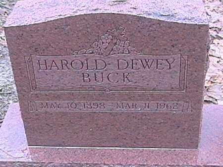 BUCK, HAROLD DEWEY - Champaign County, Ohio   HAROLD DEWEY BUCK - Ohio Gravestone Photos